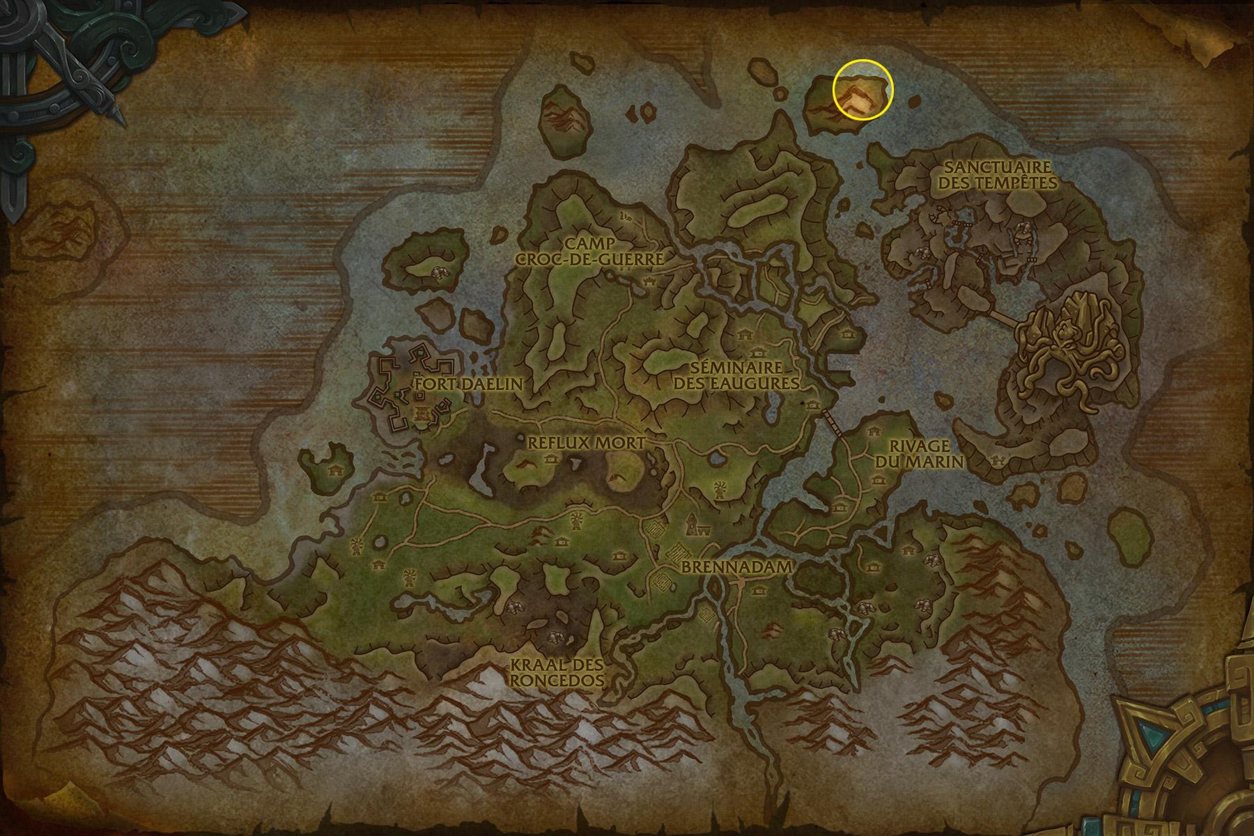 Dirigez-vous vers l'île au Nord