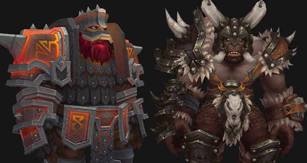 nains sombrefer et orcs mag'har : classes et tabards