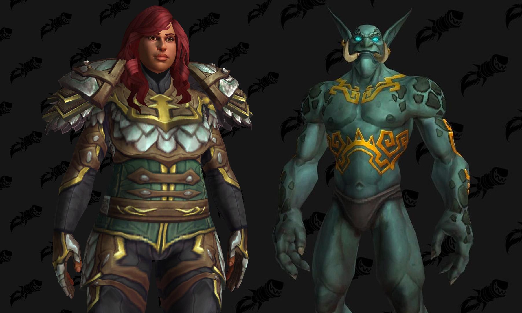 Les Kultirassiens et Trolls zandalari ne sont pas disponibles à la sortie de Battle for Azeroth