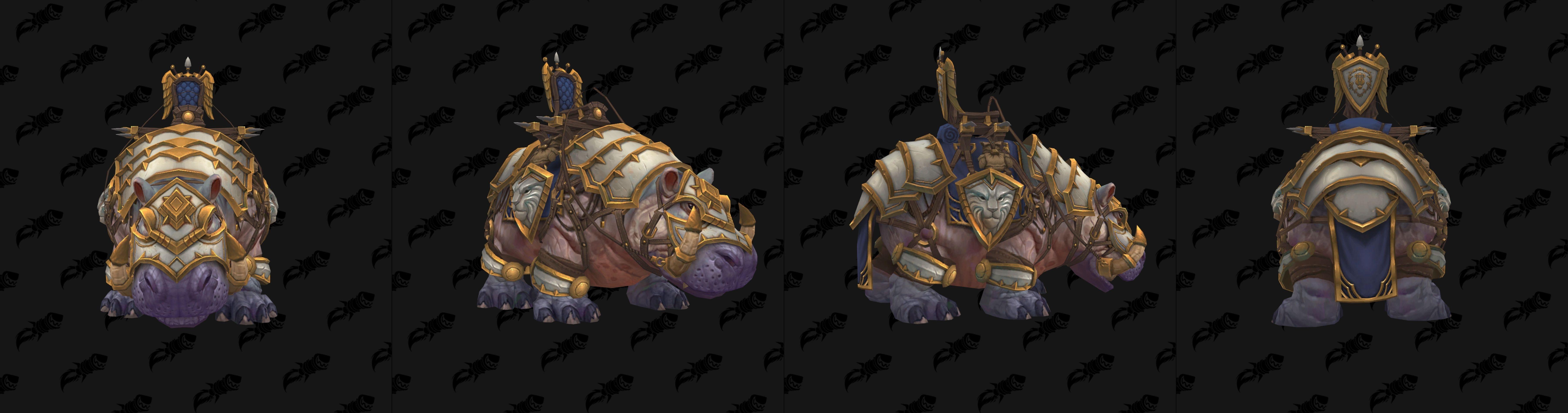 Monture Hippo de guerre vicieux