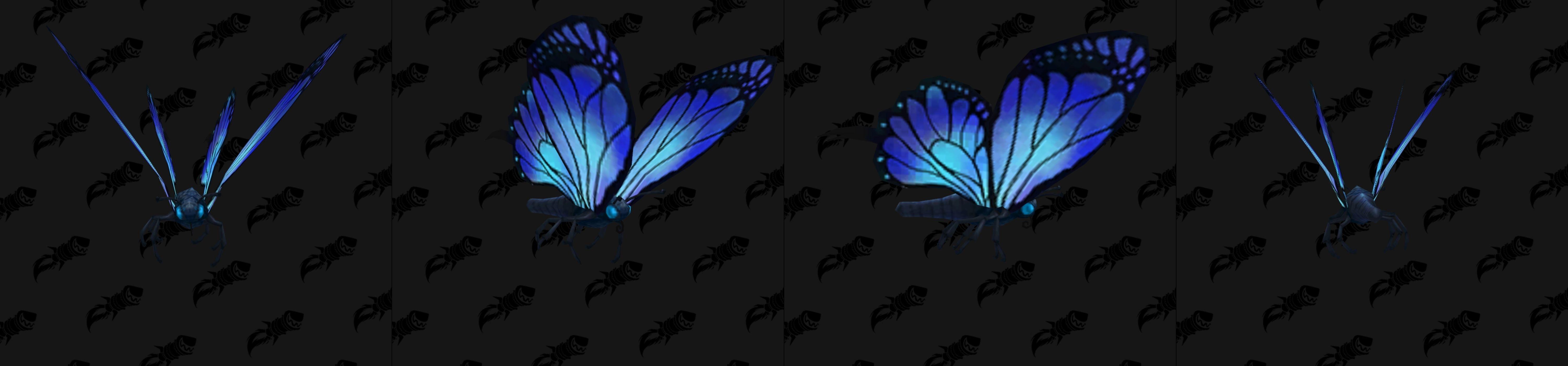 Modèle de mascotte papillon bleu
