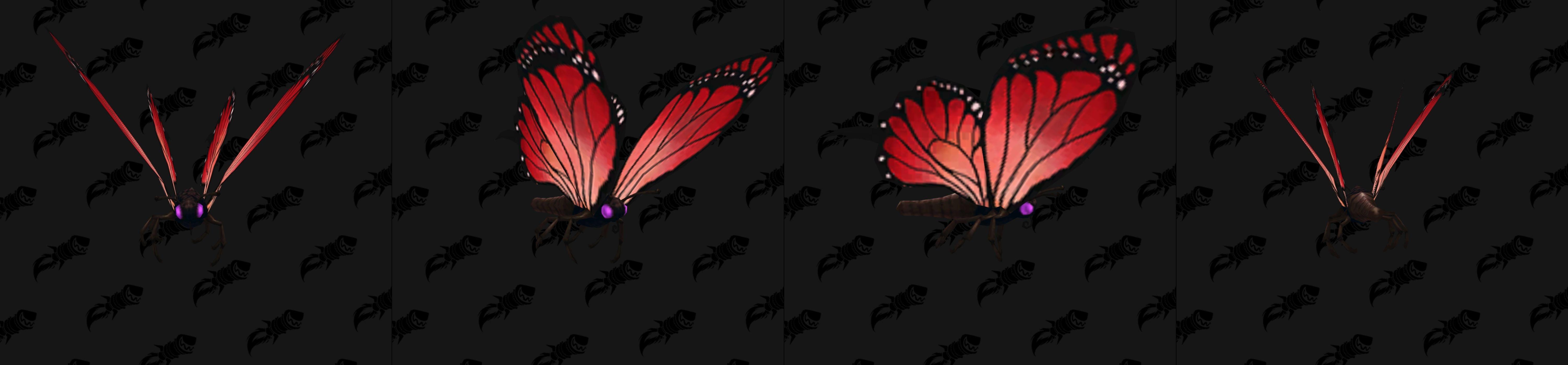 Modèle de mascotte papillon rouge