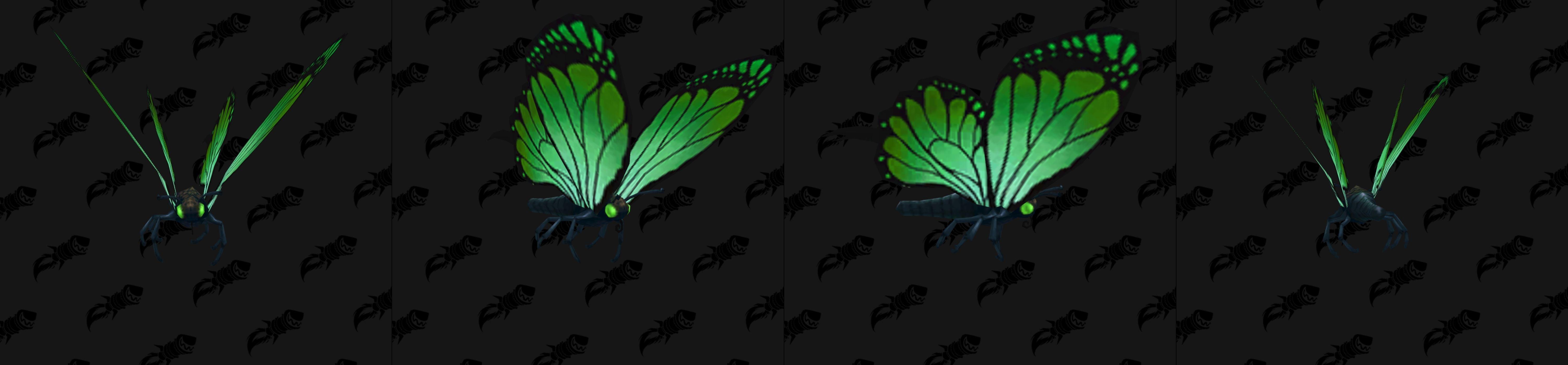 Modèle de mascotte papillon vert