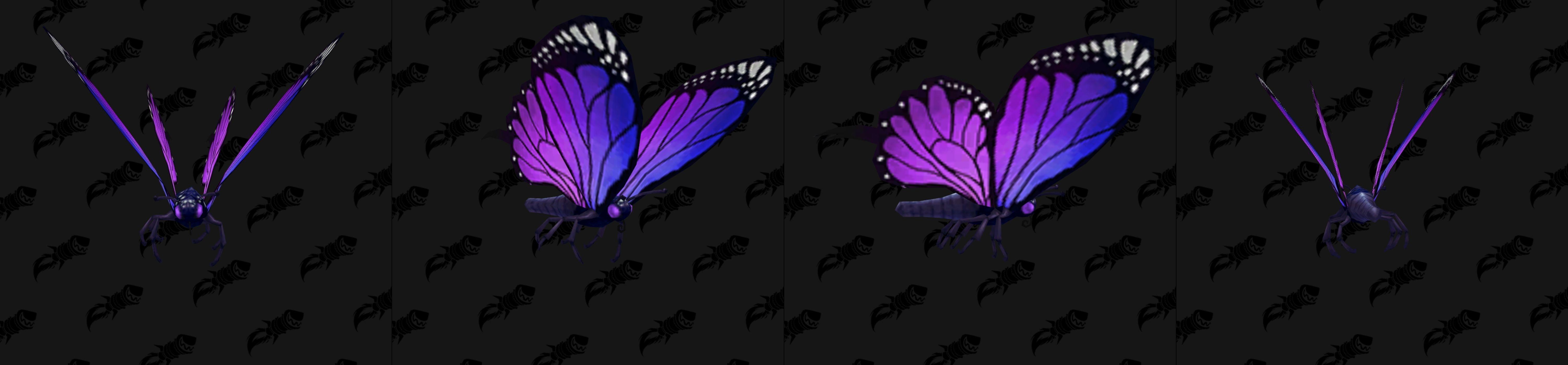 Modèle de mascotte papillon violet