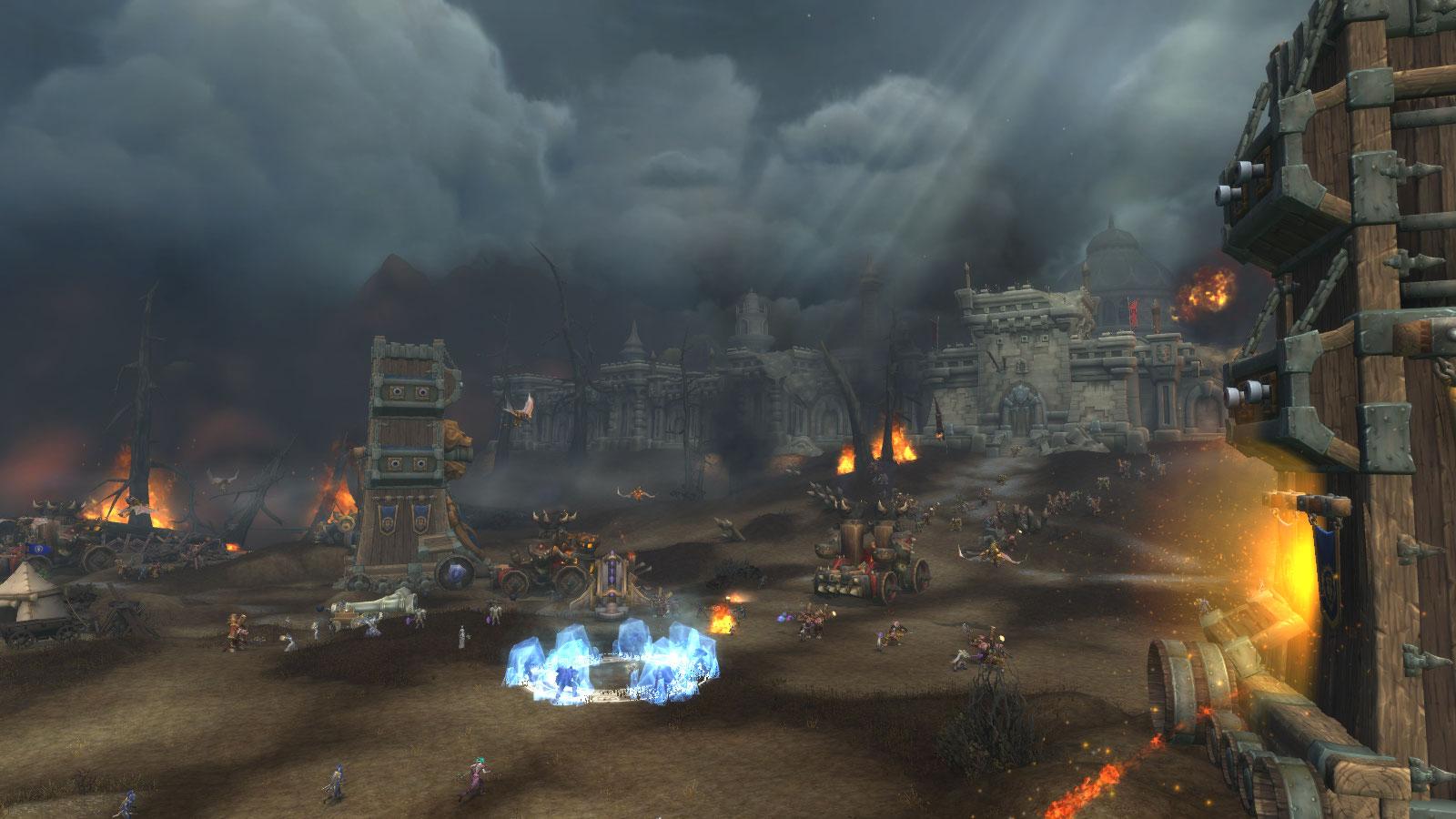 Vue extérieure de la bataille de Lordaeron