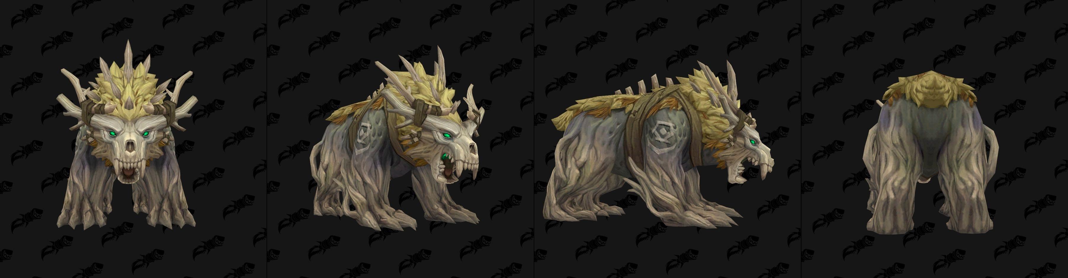 Forme d'ours du Druide Kultirassien - coloris blanc