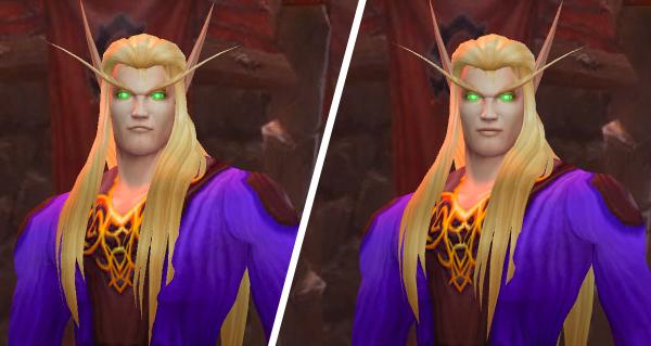 battle for azeroth : personnalisation de la couleur de peau et visages de l'elfe de sang