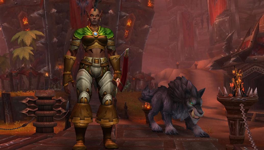 Loup noir, familier de Chasseur de base pour les Orcs Mag'har