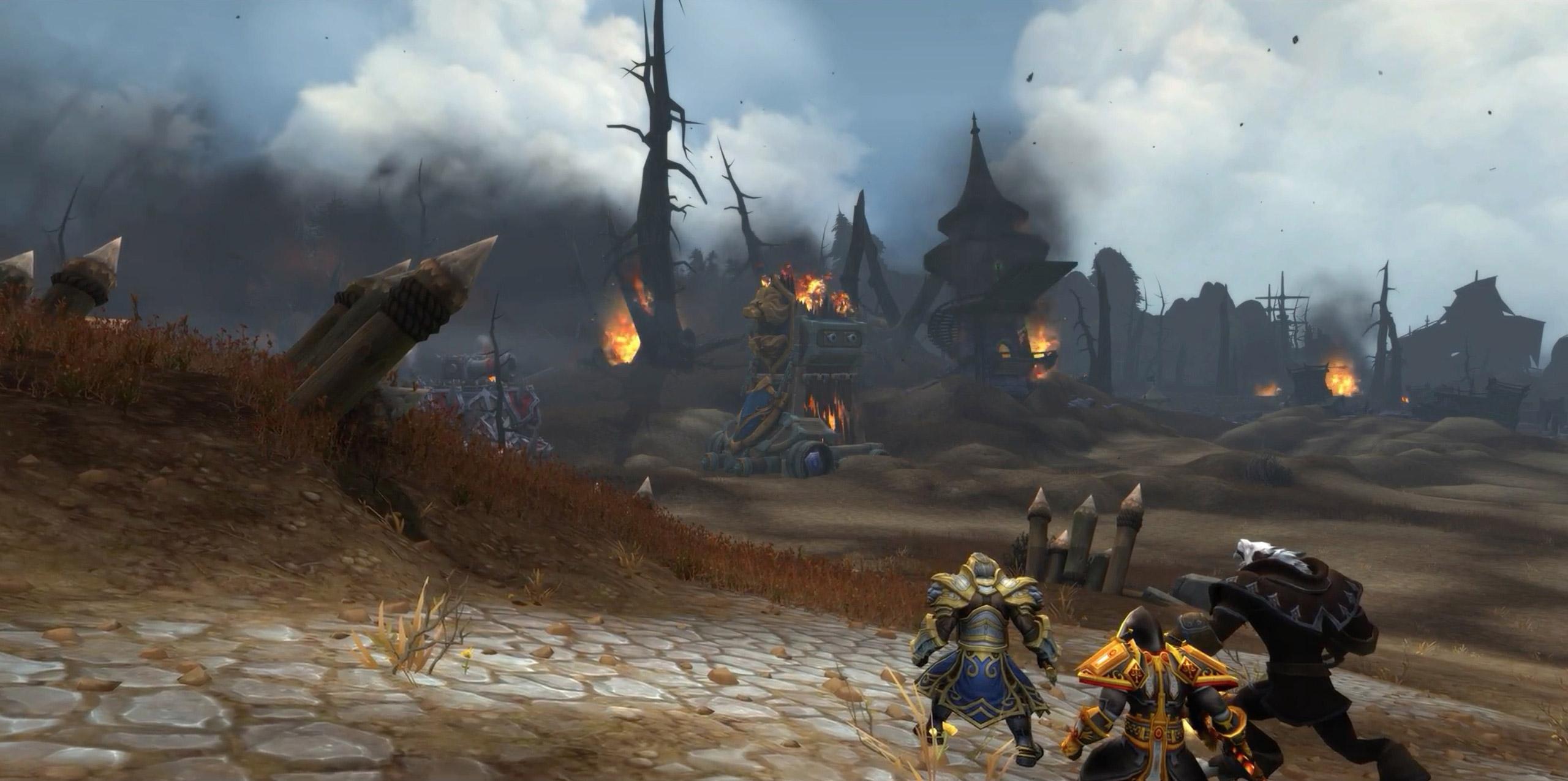 L'immense machine de guerre de la Horde ravage le champ de bataille