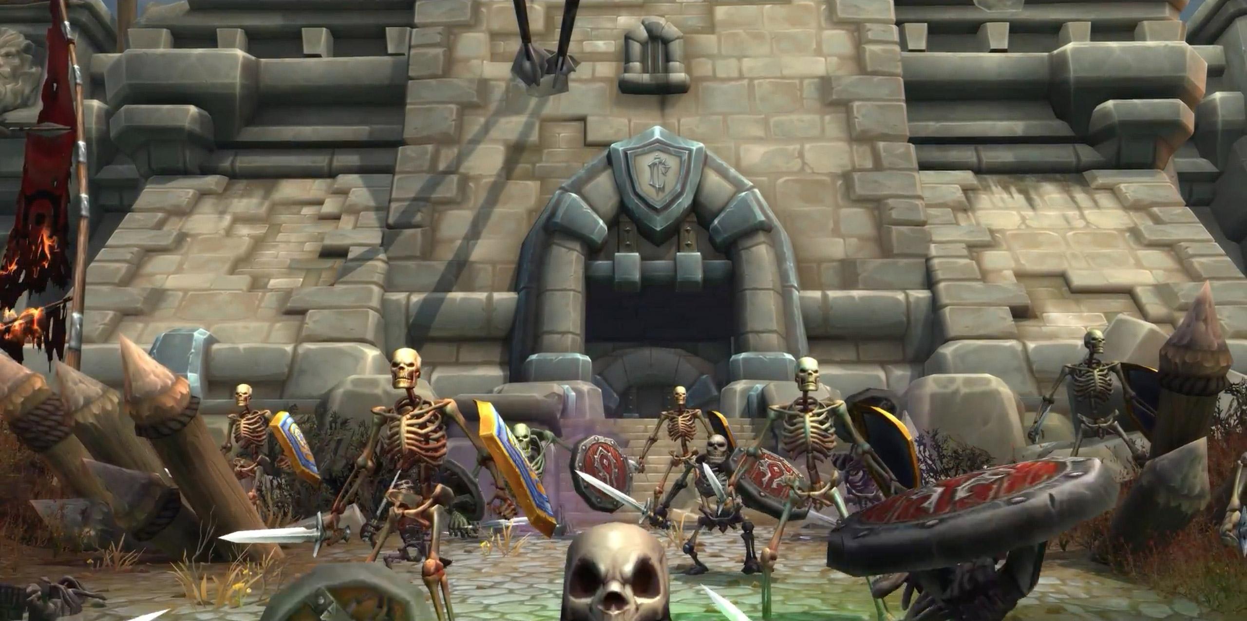 Les soldats de l'Alliance et de la Horde se relèvent en squelettes