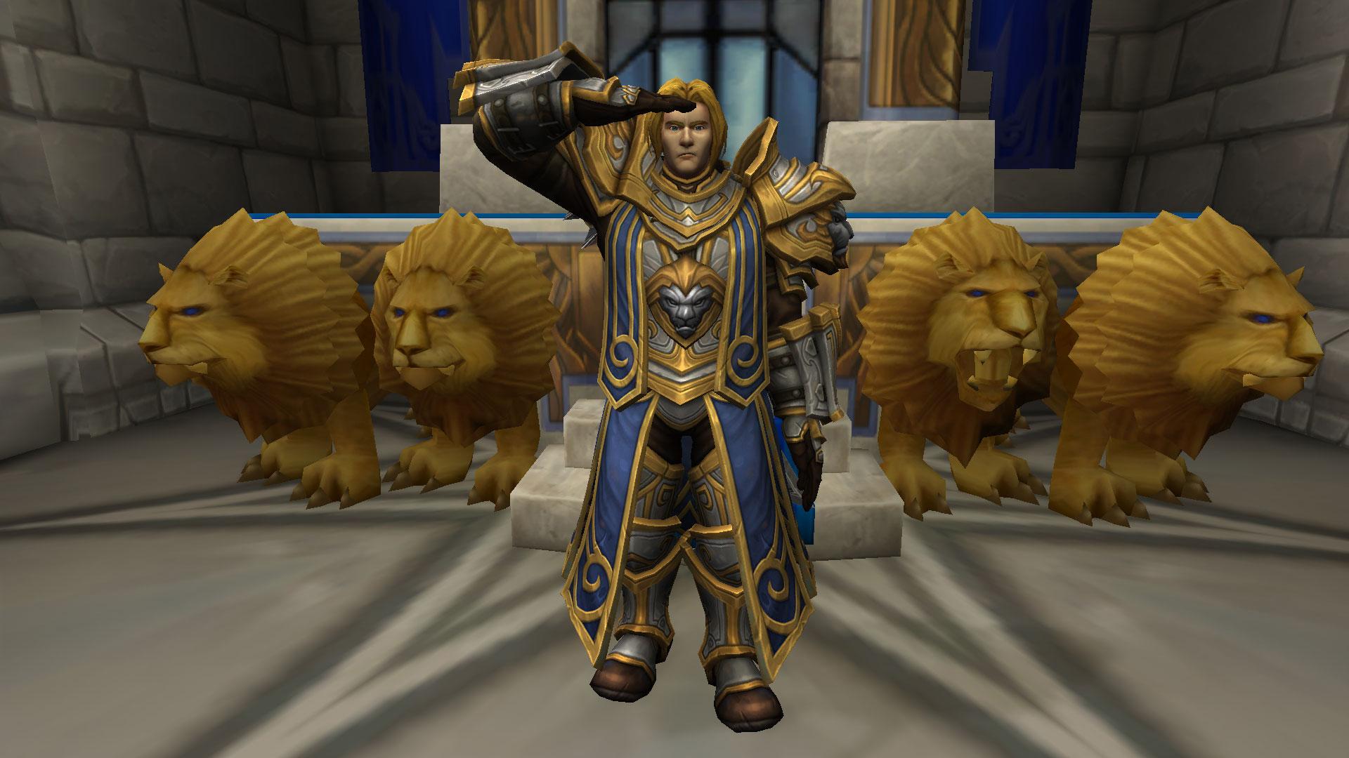 Le roi Anduin Wrynn convoque les champions de l'Alliance