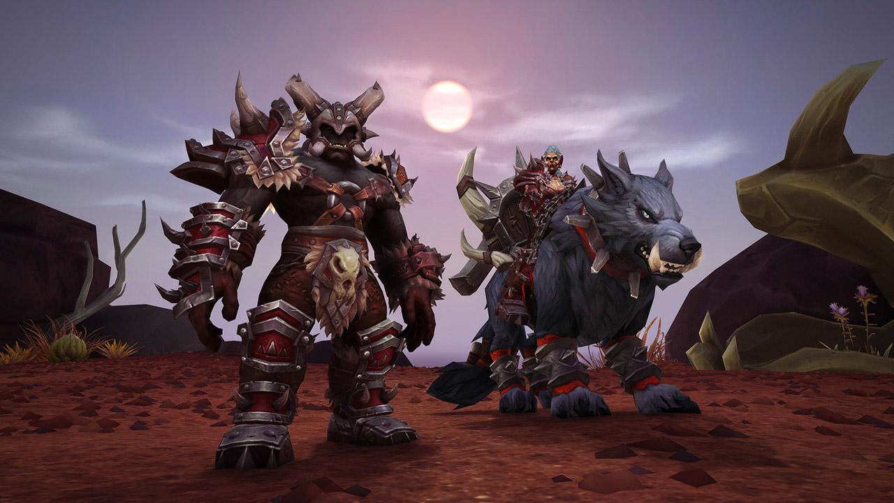 Les Orcs Mag'har et leur monture