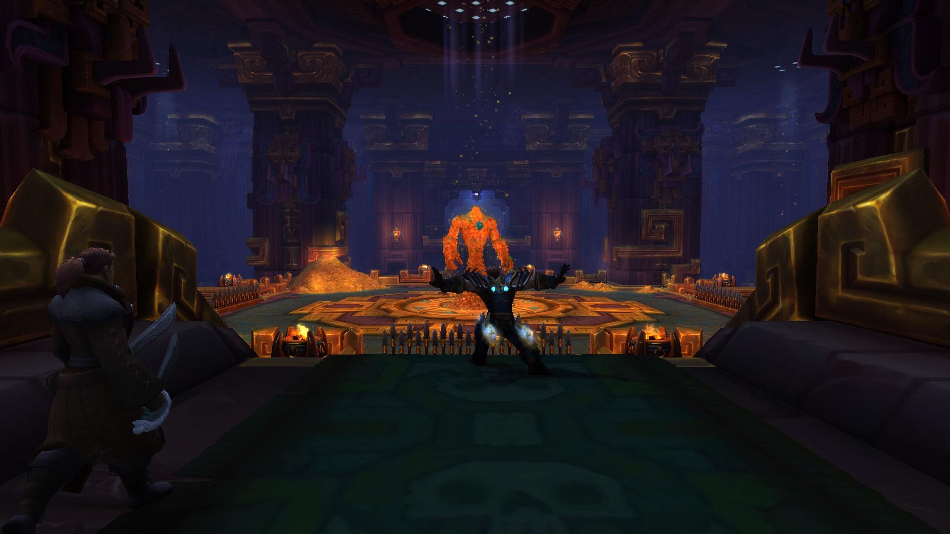 Opulence apparaît dans la salle centrale