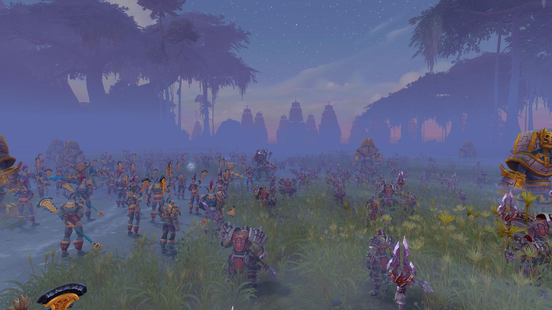 L'armée zandalari et la Horde se préparent à affronter la flotte de Kul Tiras