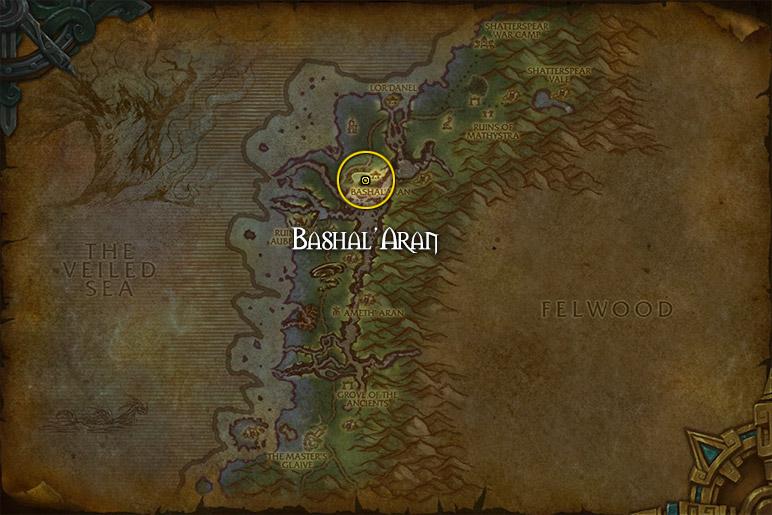 Vous pouvez récupérer 3 quêtes à Bashal'Aran