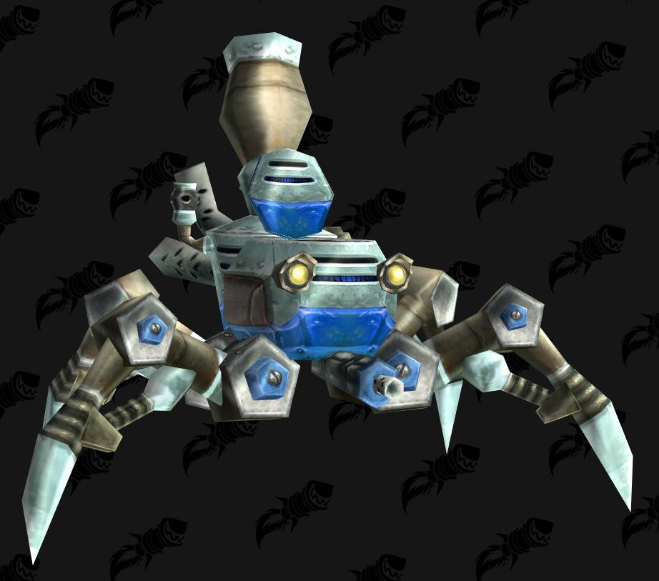 Minichar araignée, mascotte BFA qui s'obtient en validant le haut-fait du donjon de mascottes Gnomeregan