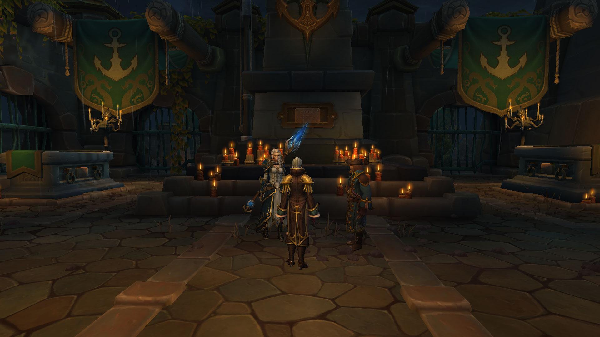 Les Portvaillant réunis à la sépulture de l'amiral suprême