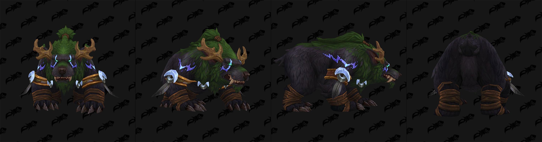Nouveau modèle de Malfurion en forme d'ours