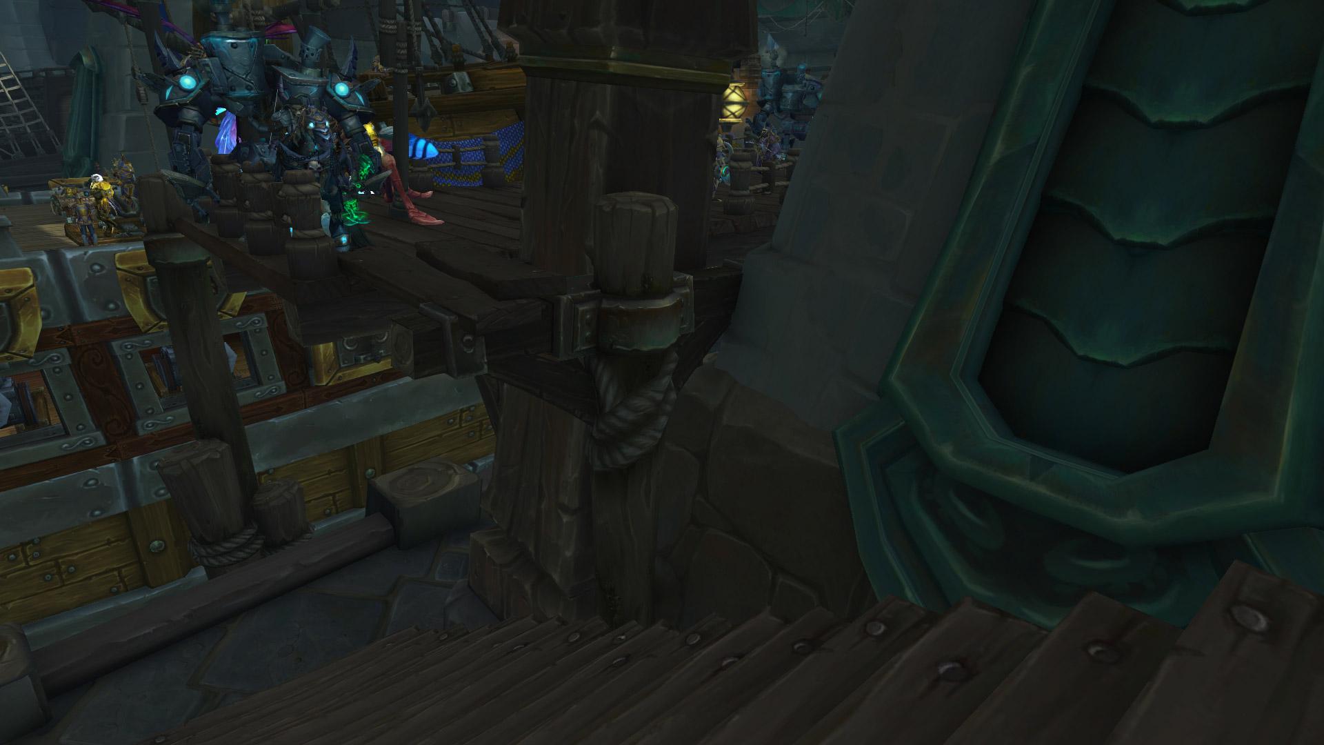 Une planche a été ajoutée à Boralus pour rejoindre le navire de l'Alliance