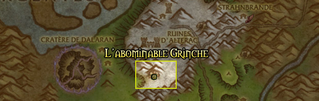 Localisation de l'Abominable Grinche