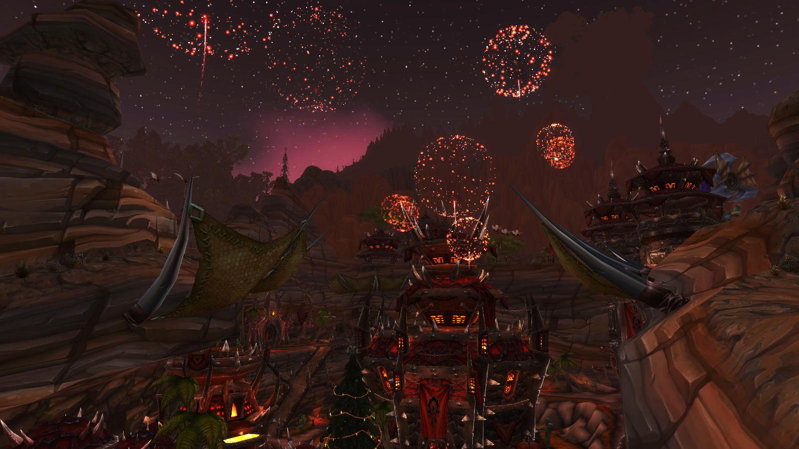 Assistez toutes les heures aux feux d'artifice tirés dans les grandes villes d'Azeroth pour le Nouvel an
