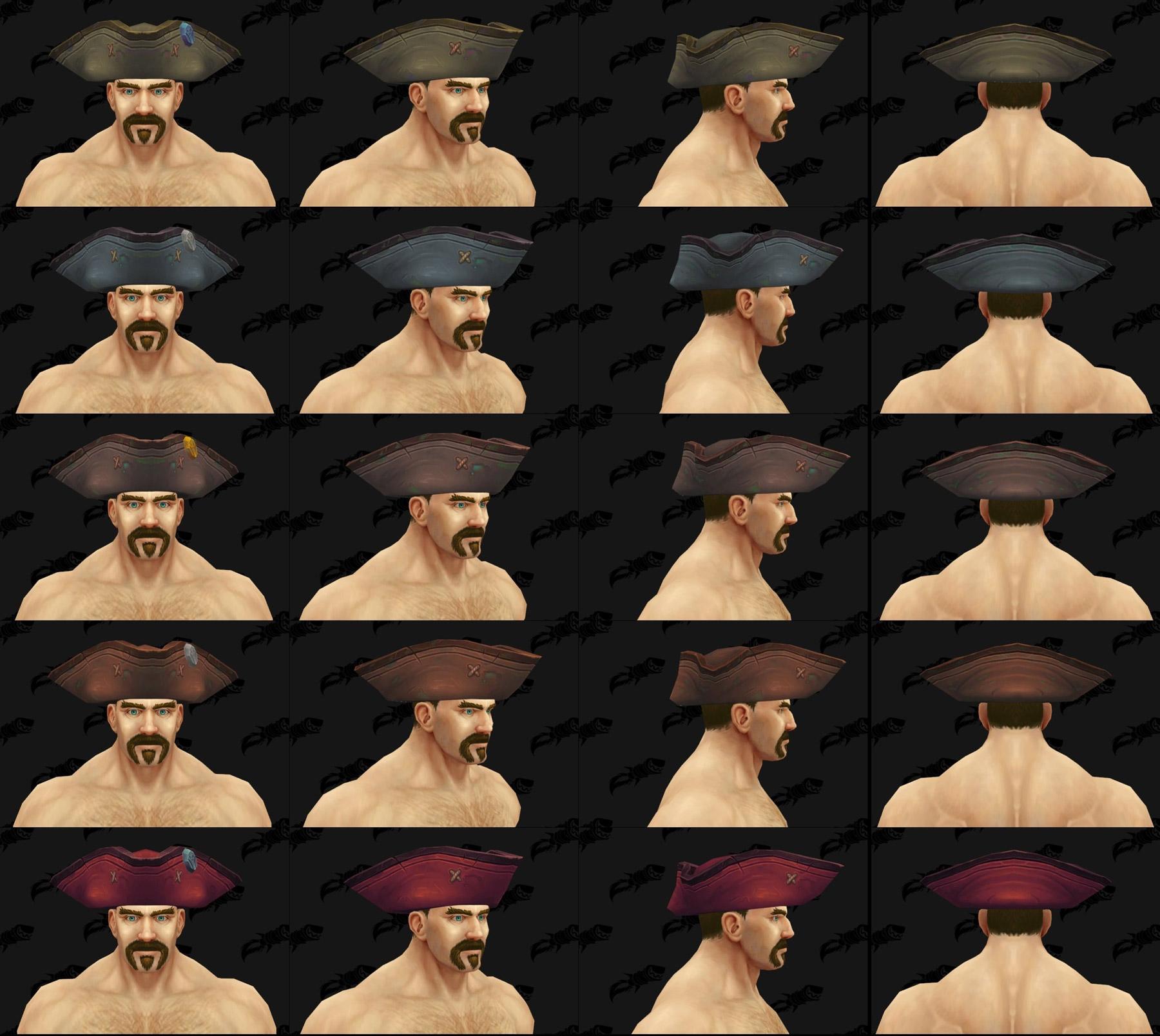 Différents coloris d'un modèle de chapeau Kul Tiras