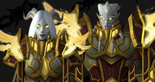 races alliees : mise a jour des armures heritages des elfes du vide et des draenei sancteforge