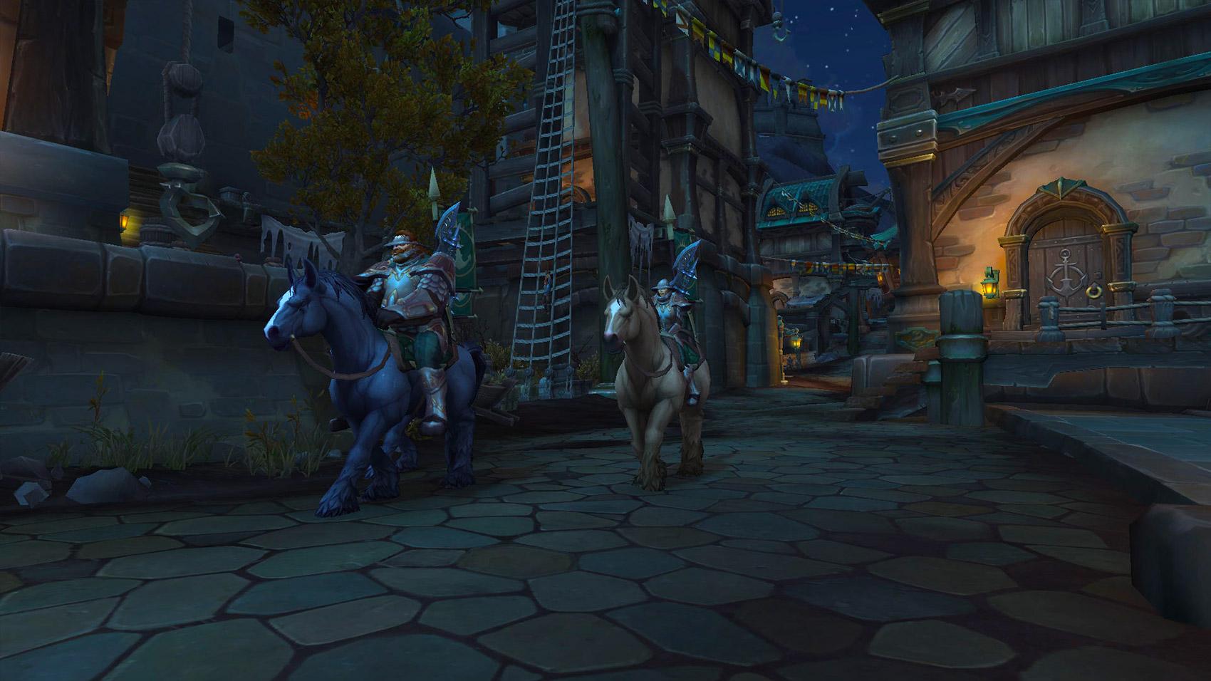 Les gardes de Kul Tiras parcourent la capitale