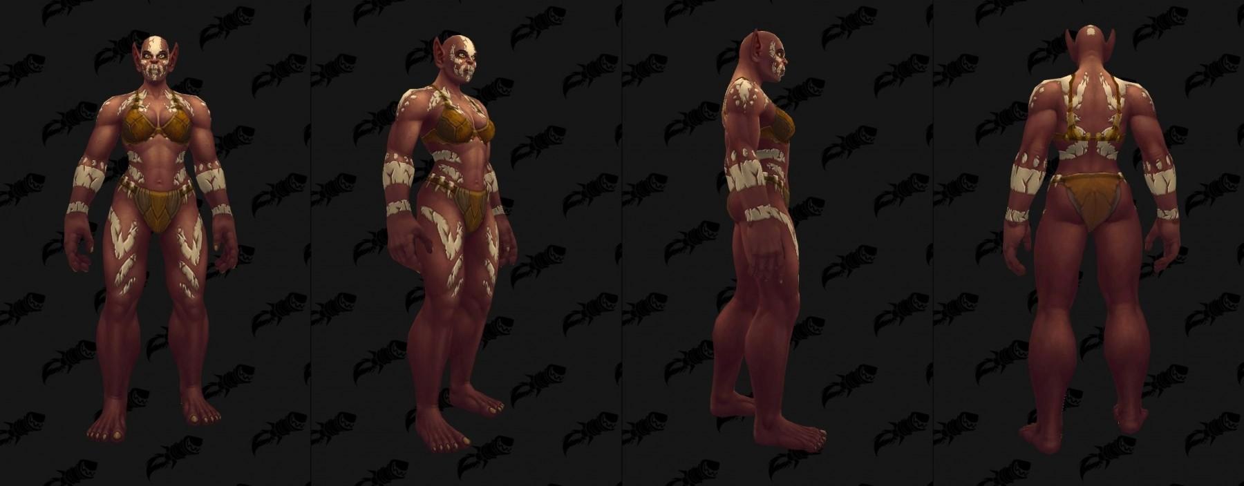Tatouages des Orcs Mag'har (femme) à Battle for Azeroth
