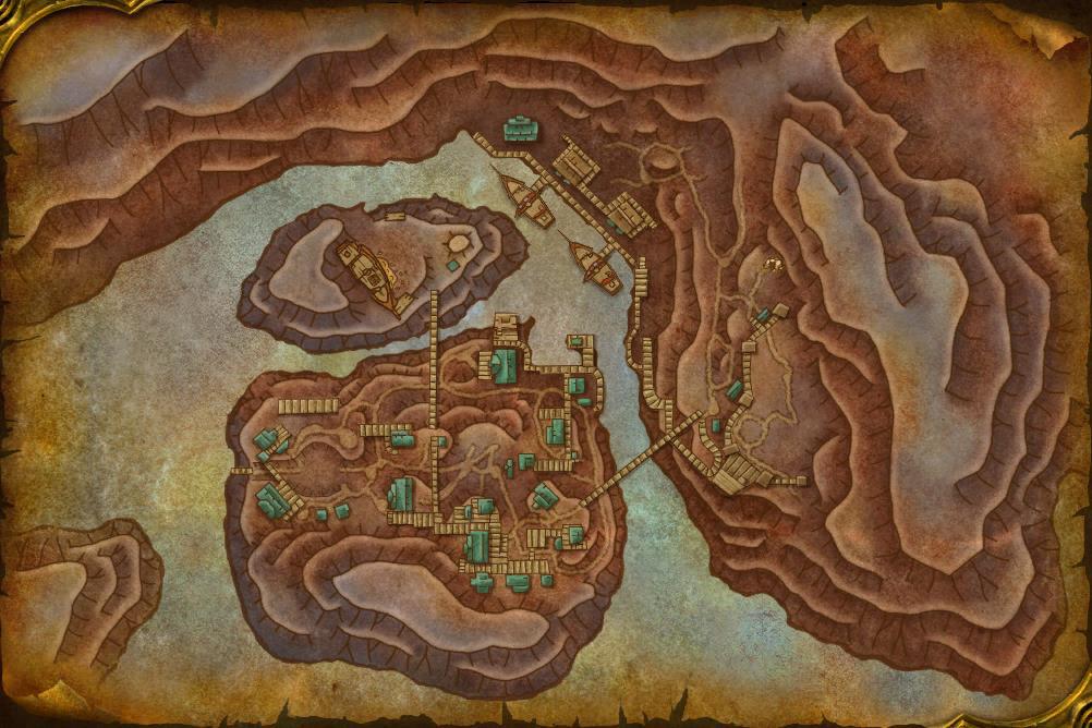 Carte du donjon Port-Liberté