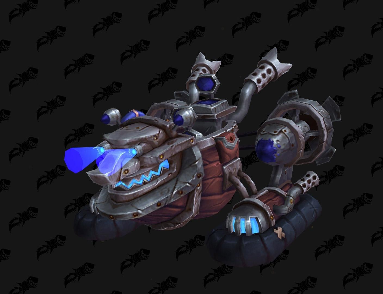 Hovercraft Gobelin coloris bleu - Battle for Azeroth