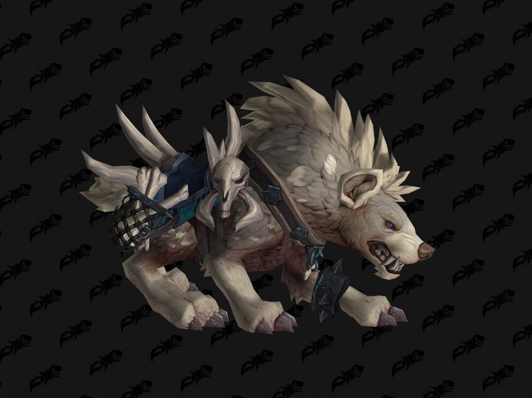 Hyène coloris blanc Battle for Azeroth