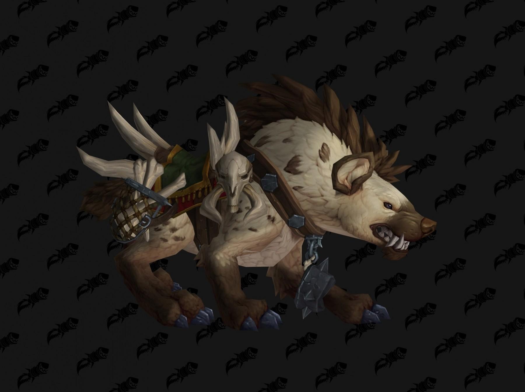 Hyène coloris marron Battle for Azeroth