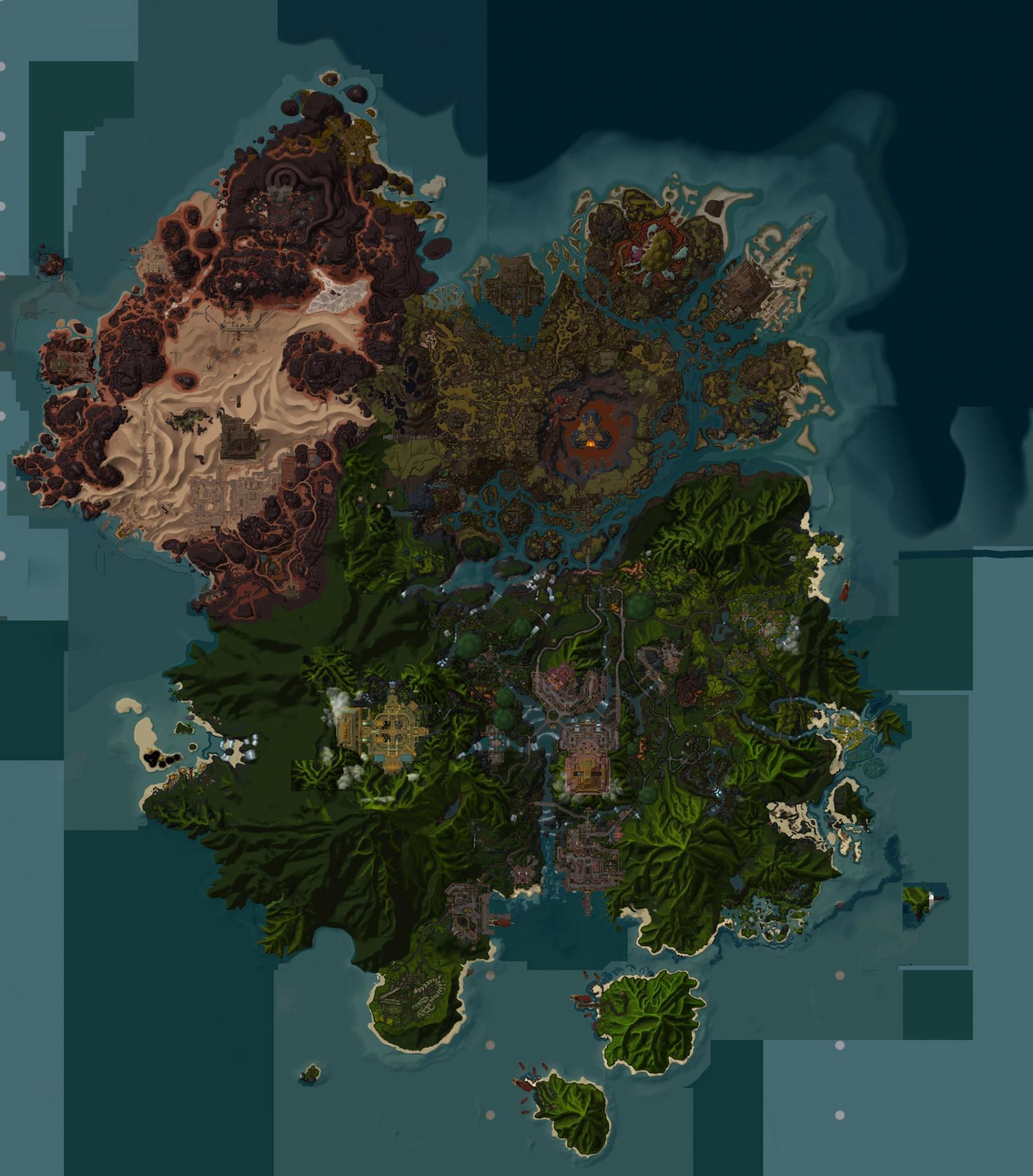 Map du continent Zandalar