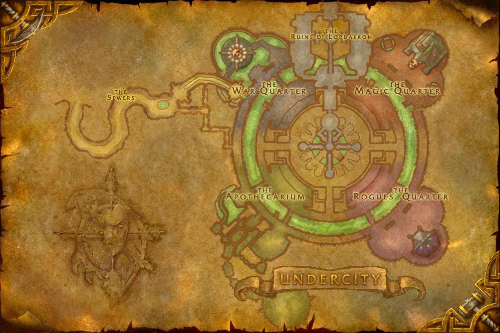 Carte du scénario Ruines de Lordaeron