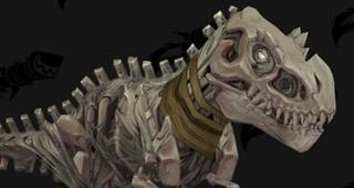 Modèle d'un T-Rex osseux
