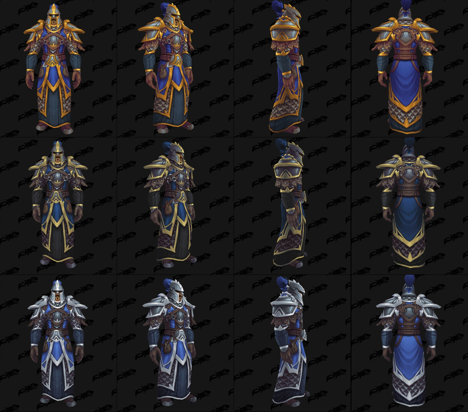 Ensembles Front de guerre (Alliance) en maille - Tier 2 - Battle for Azeroth