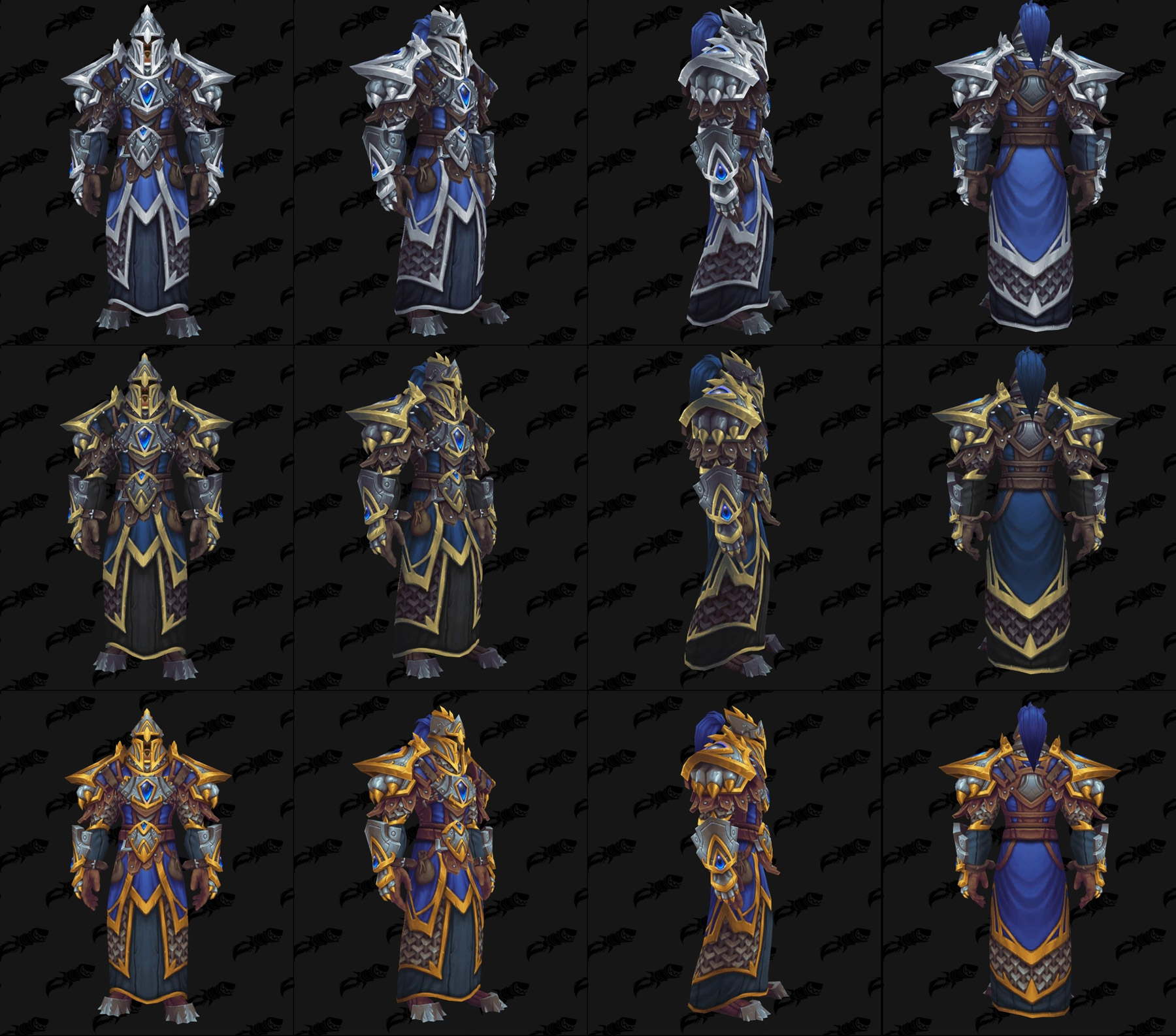 Ensembles Front de guerre (Alliance) en maille - Tier 3 - Battle for Azeroth