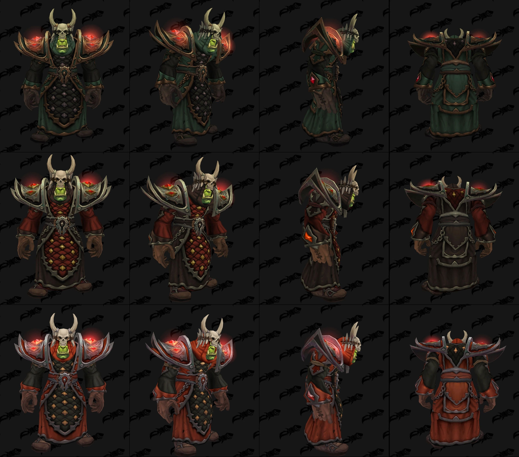 Ensembles Front de guerre (Horde) en tissu - Tier 2 - Battle for Azeroth