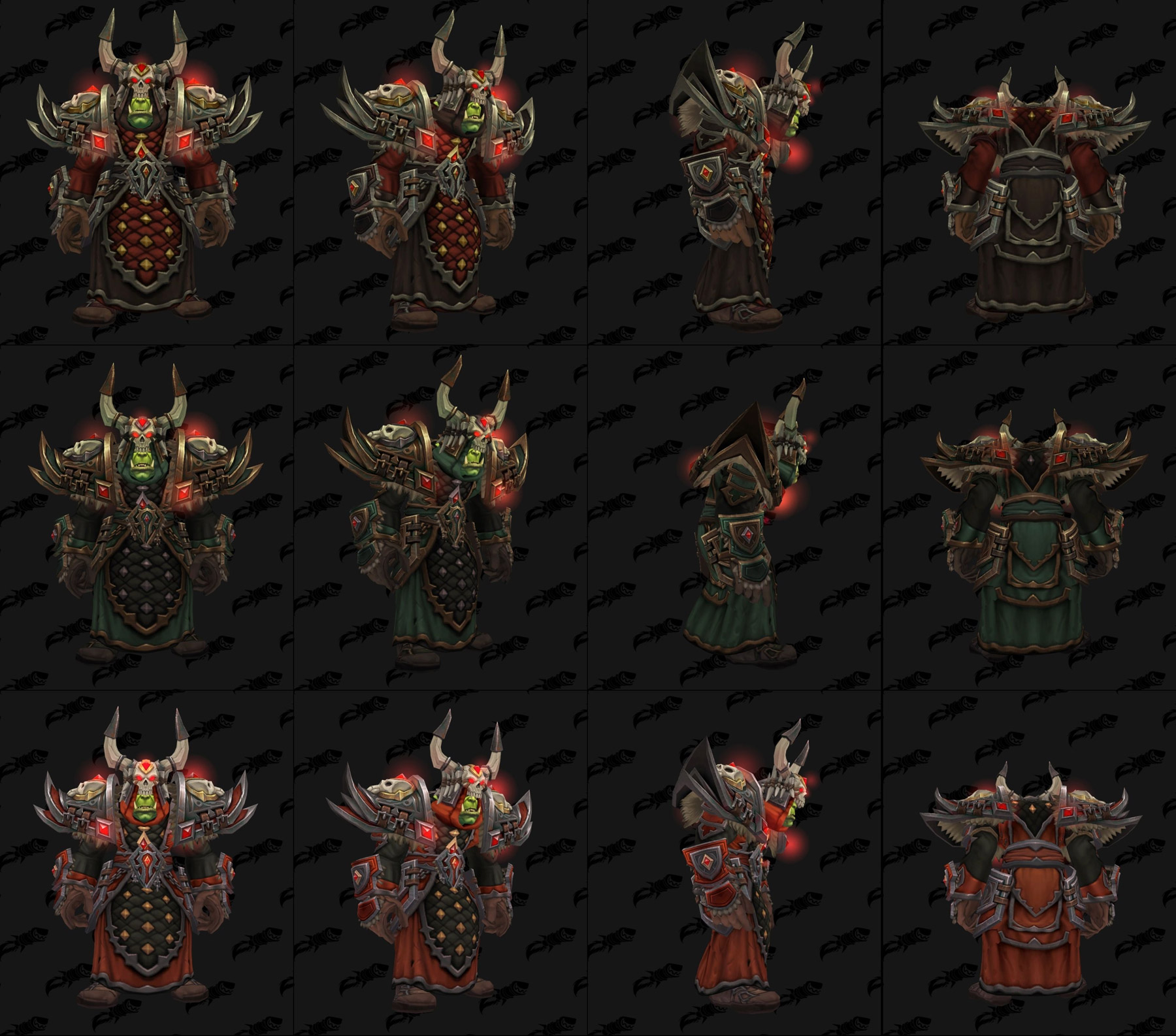 Ensembles Front de guerre (Horde) en tissu - Tier 3 - Battle for Azeroth