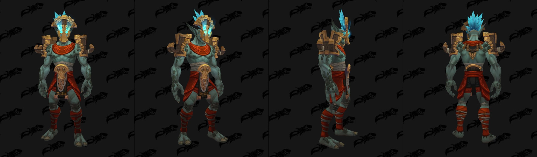 Ensemble héritage incomplet - Modèle masculin - Troll Zandalari - Battle for Azeroth