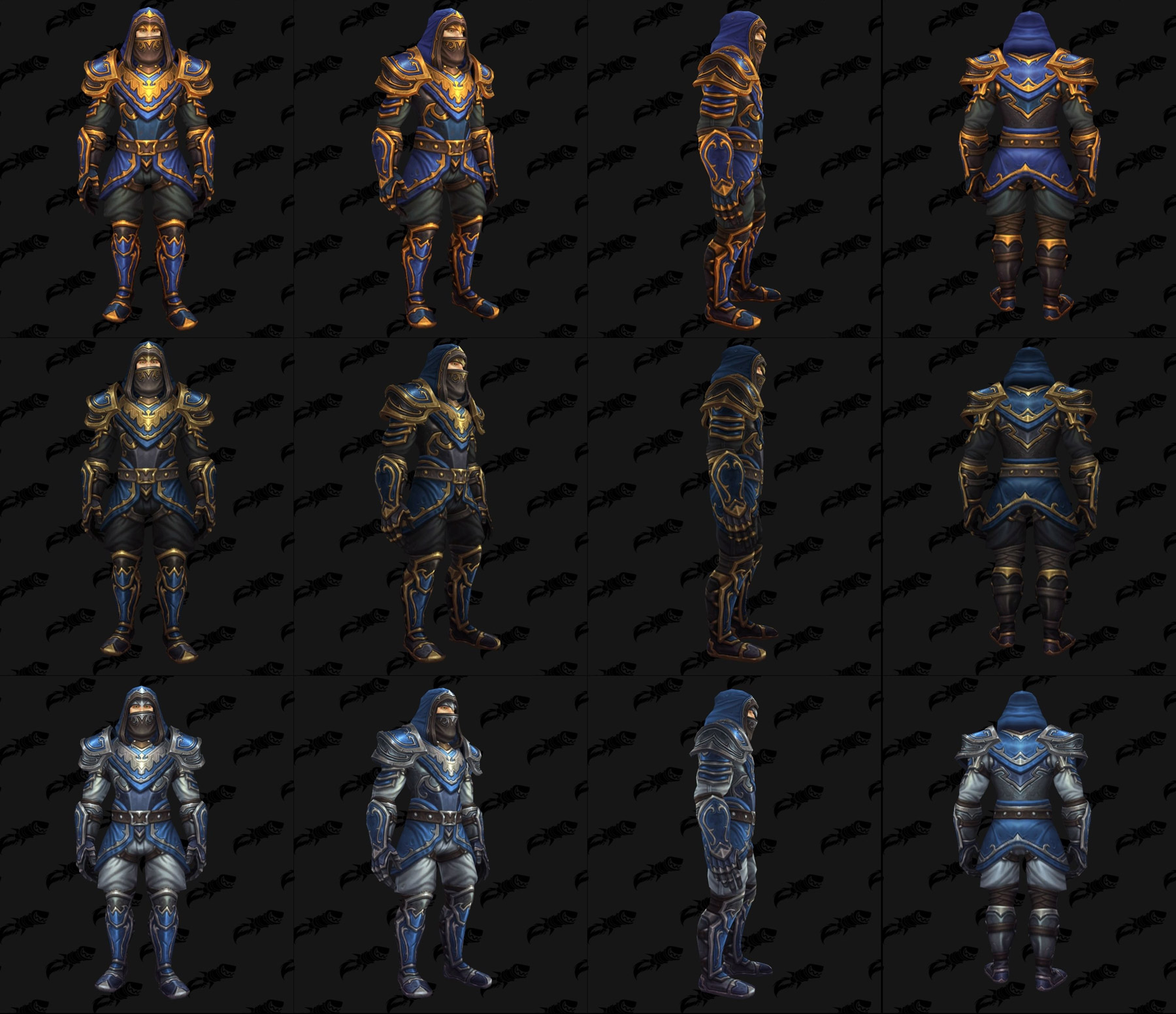 Ensembles Front de guerre (Alliance) en cuir - Tier 1 - Battle for Azeroth