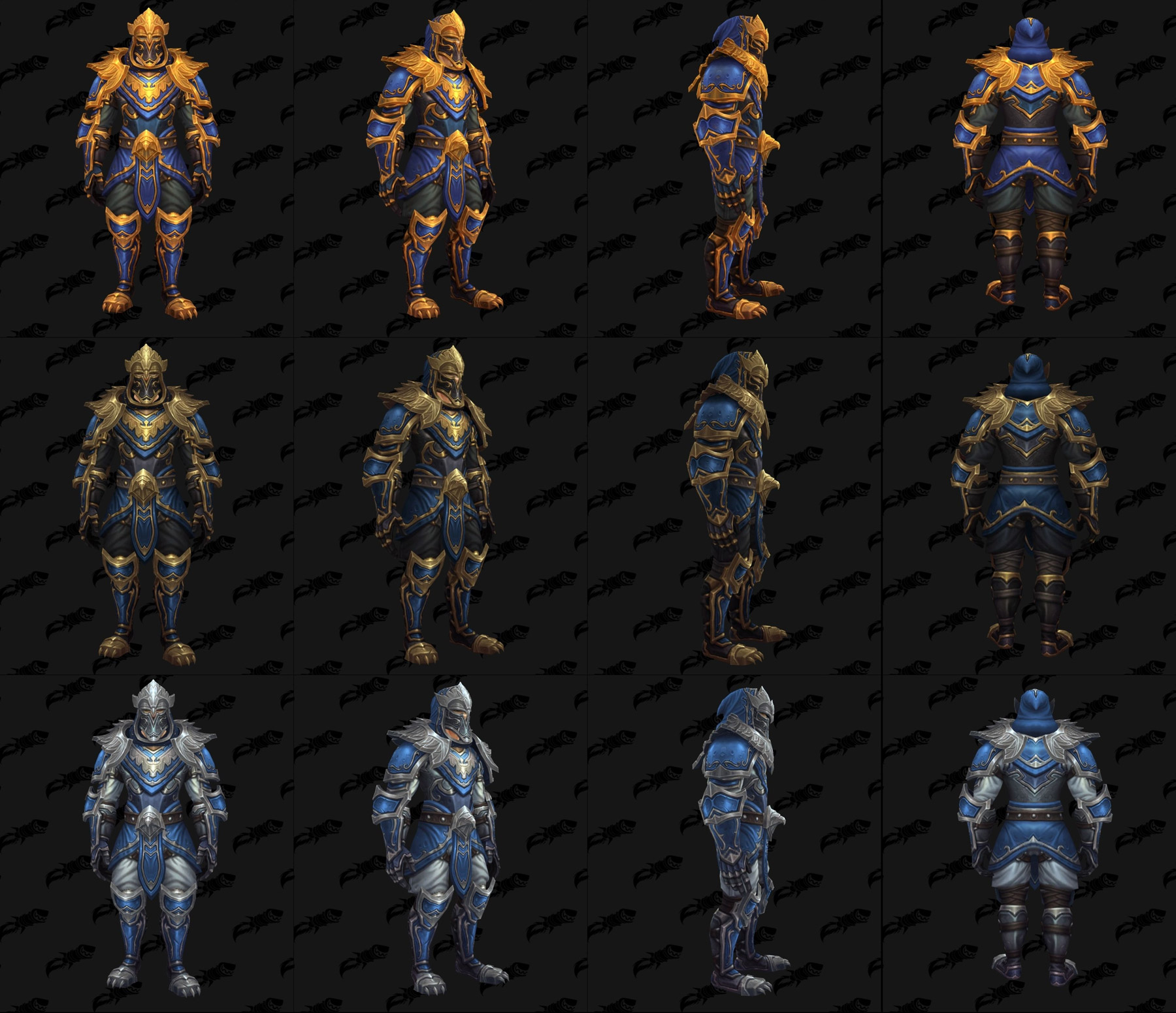Ensembles Front de guerre (Alliance) en cuir - Tier 3 - Battle for Azeroth