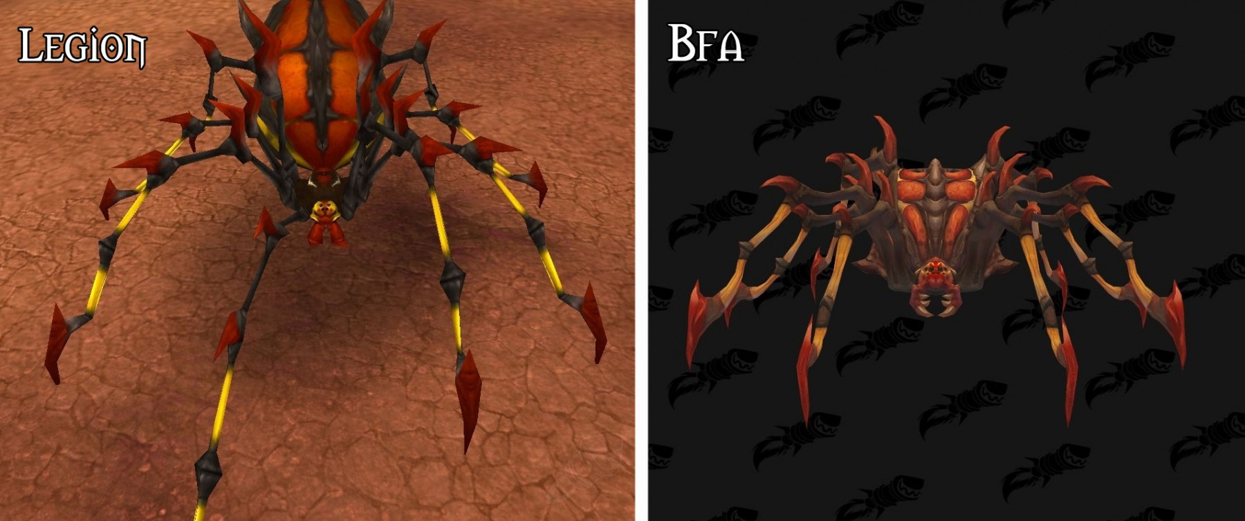 Refonte du modèle pour l'araignée géante à Battle for Azeroth