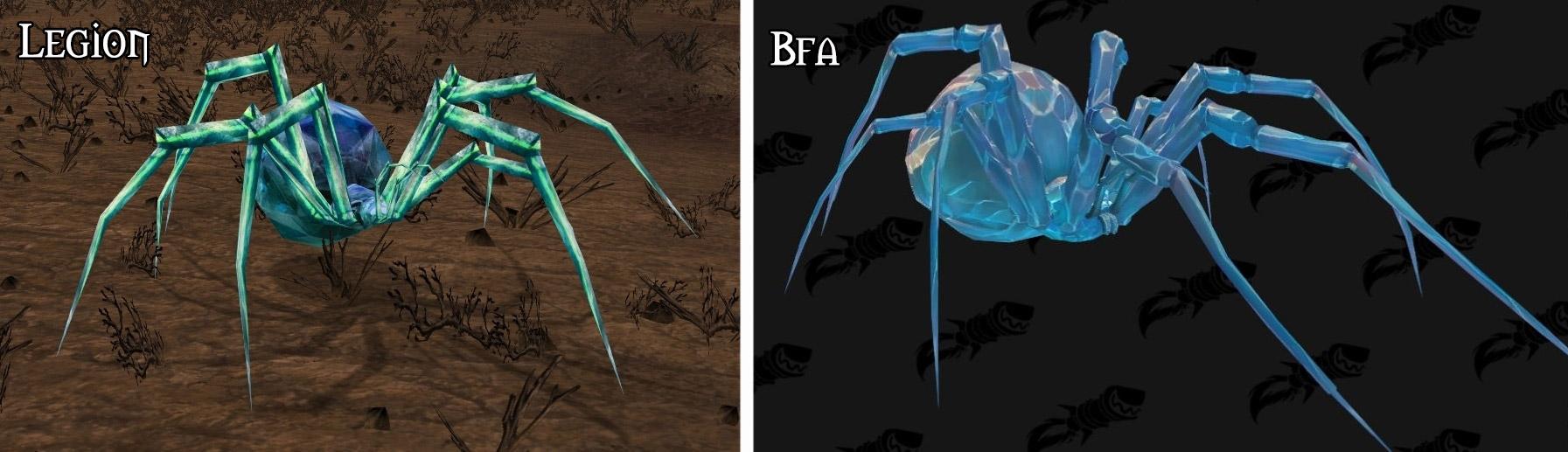 Refonte du modèle pour l'araignée minière à Battle for Azeroth