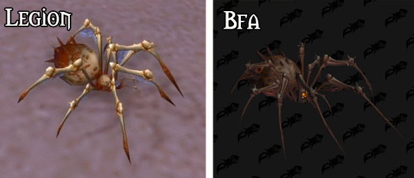 Refonte du modèle de l'araignée osseuse à Battle for Azeroth