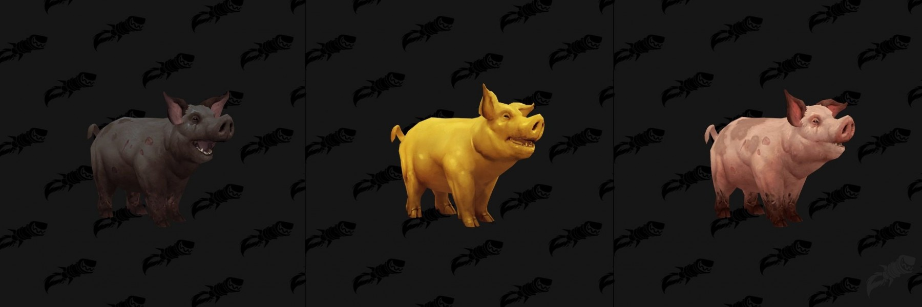 Différents coloris pour le cochon à Battle for Azeroth