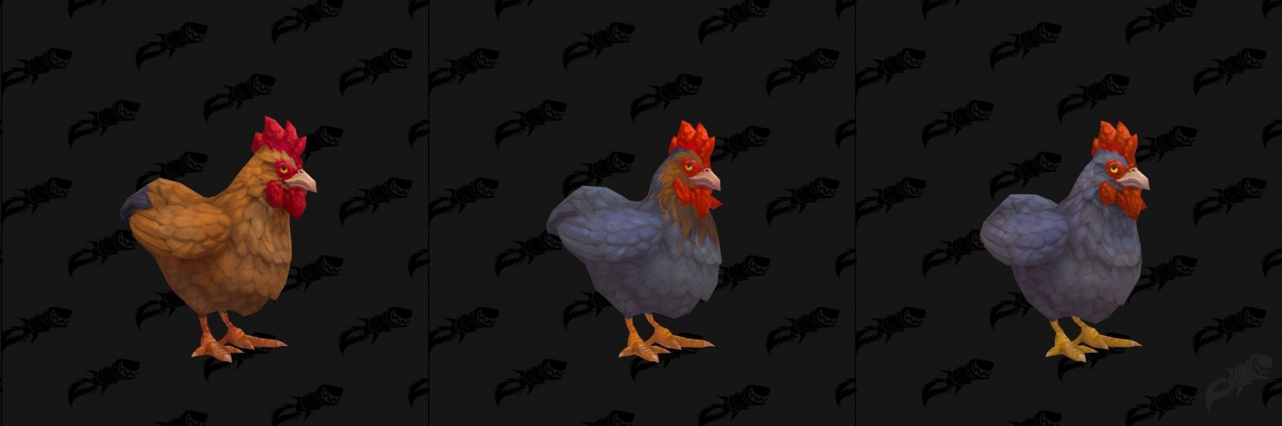 Les différents coloris des modèles de poulet  - Battle for Azeroth