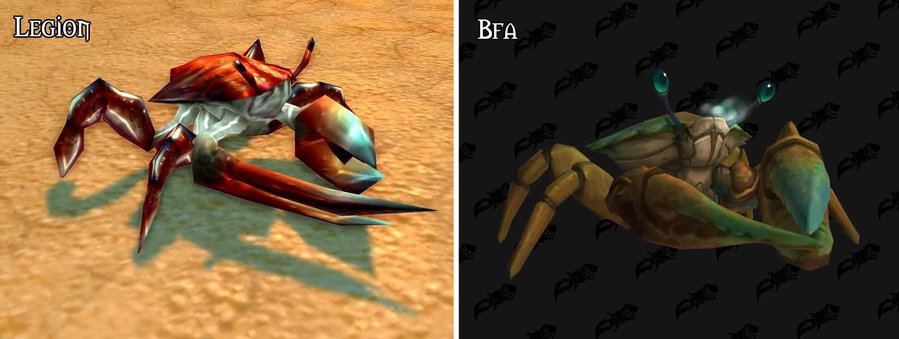 Refonte du modèle pour le crabes à Battle for Azeroth