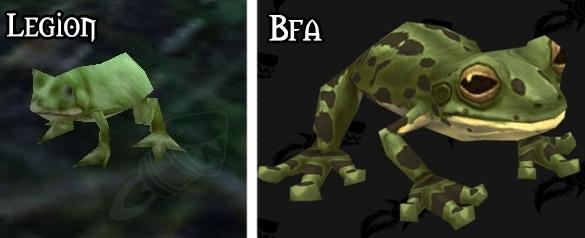 Refonte du modèle pour la grenouille à Battle for Azeroth
